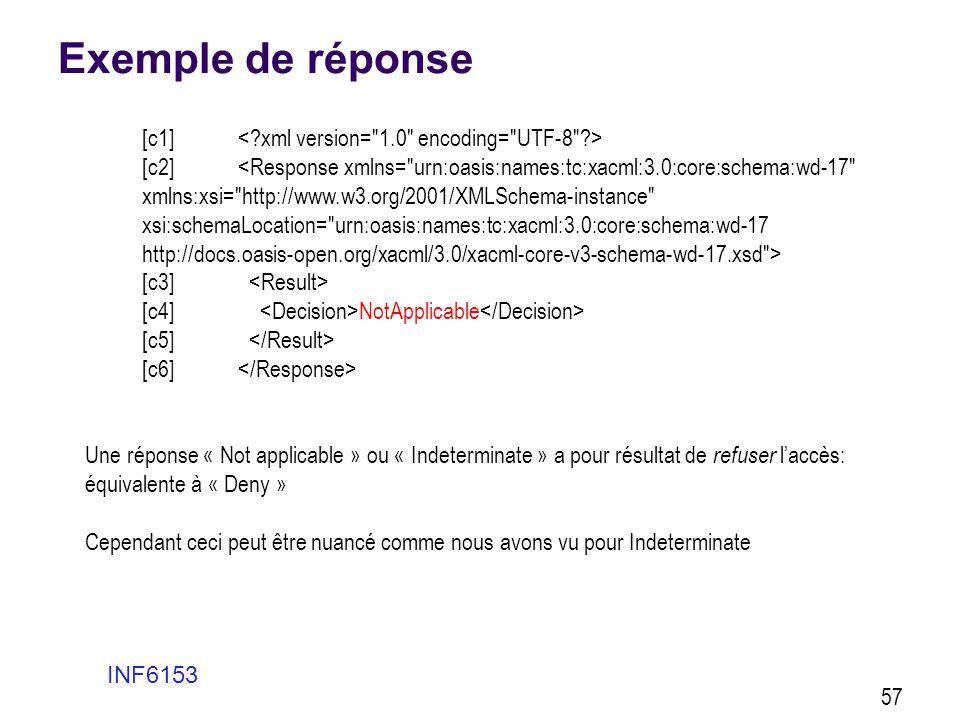 Exemple de réponse [c1] < xml version= 1.0 encoding= UTF-8 >